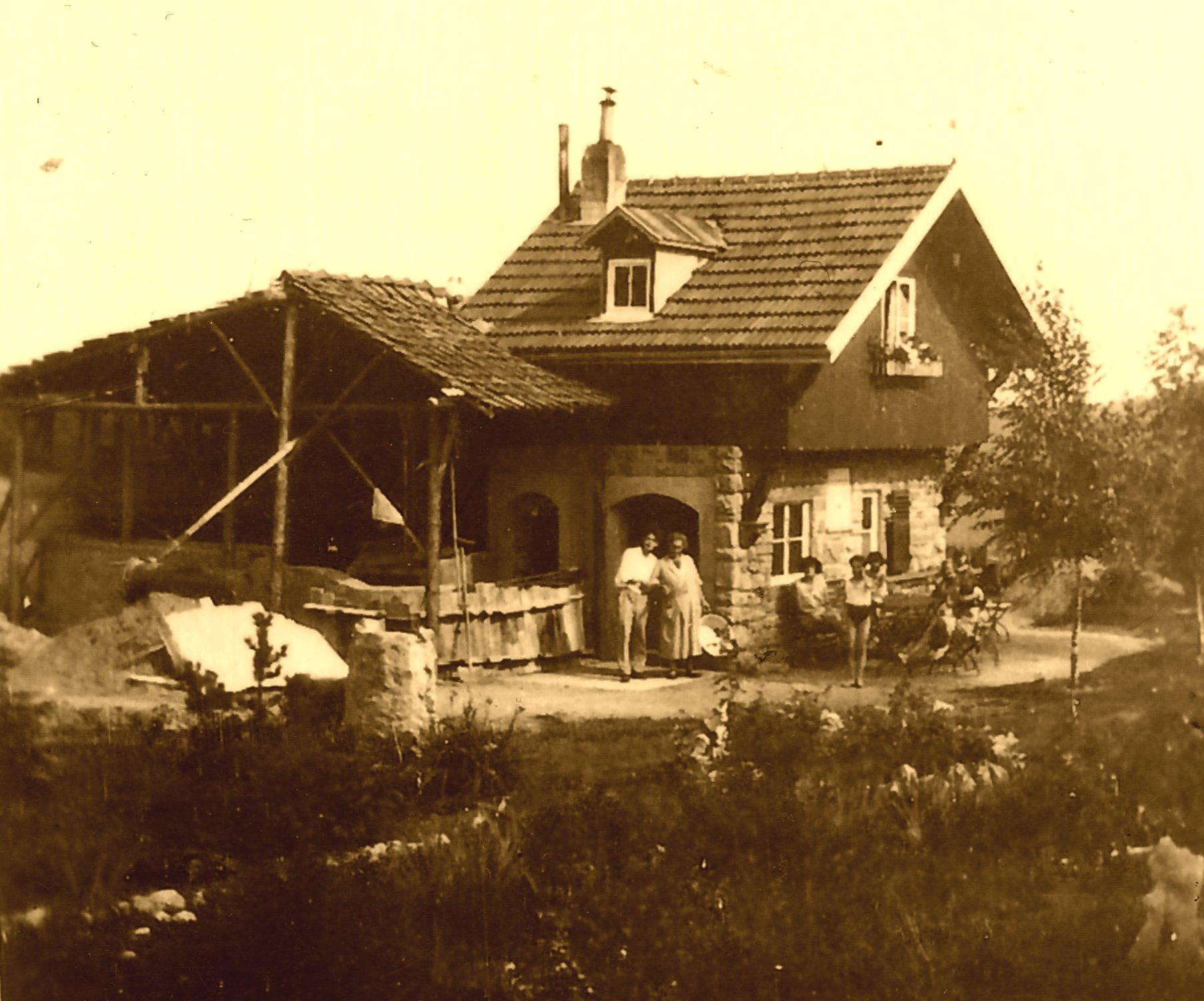 Beginn der Bauarbeiten 1932