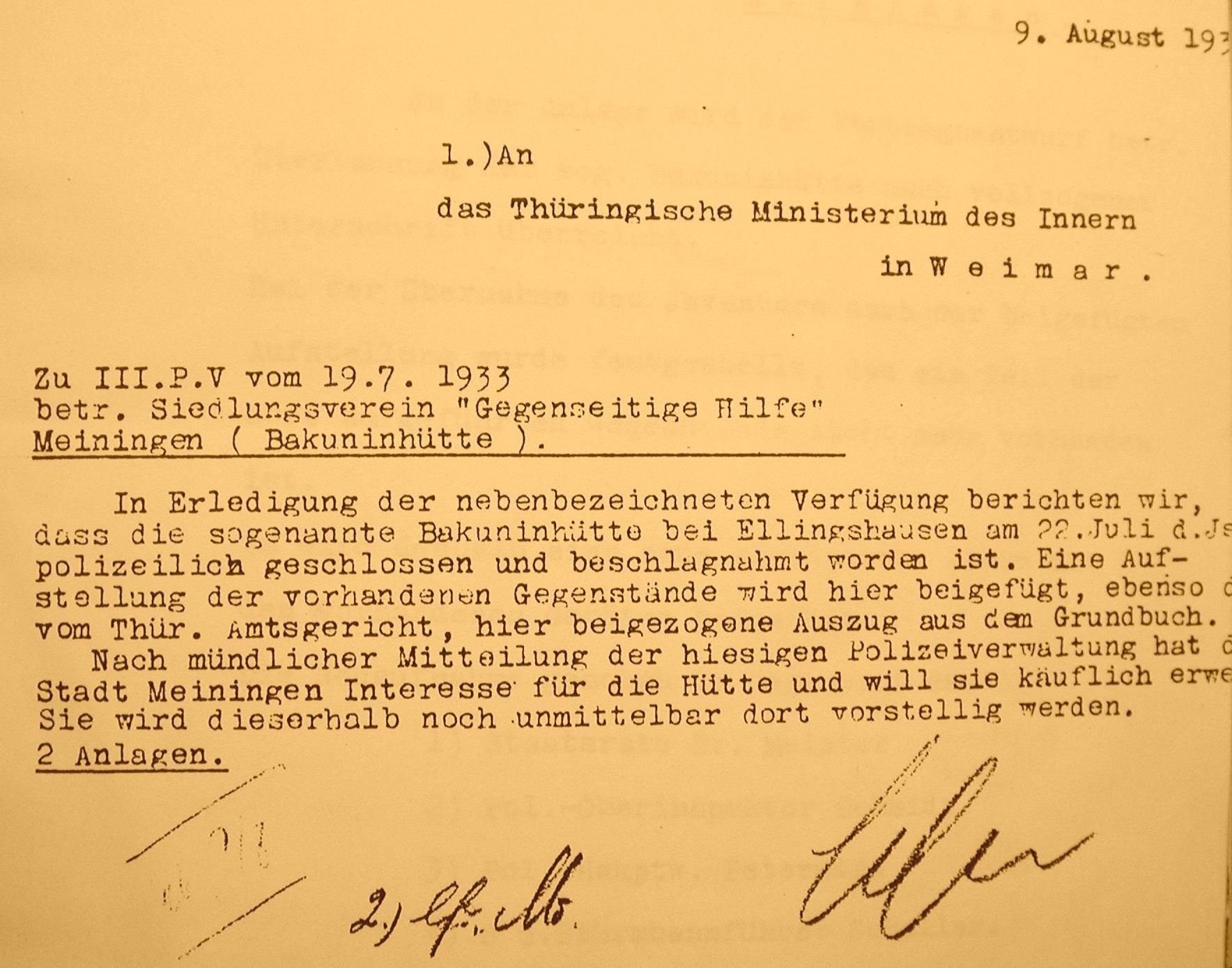 Beschlagnahme 1933