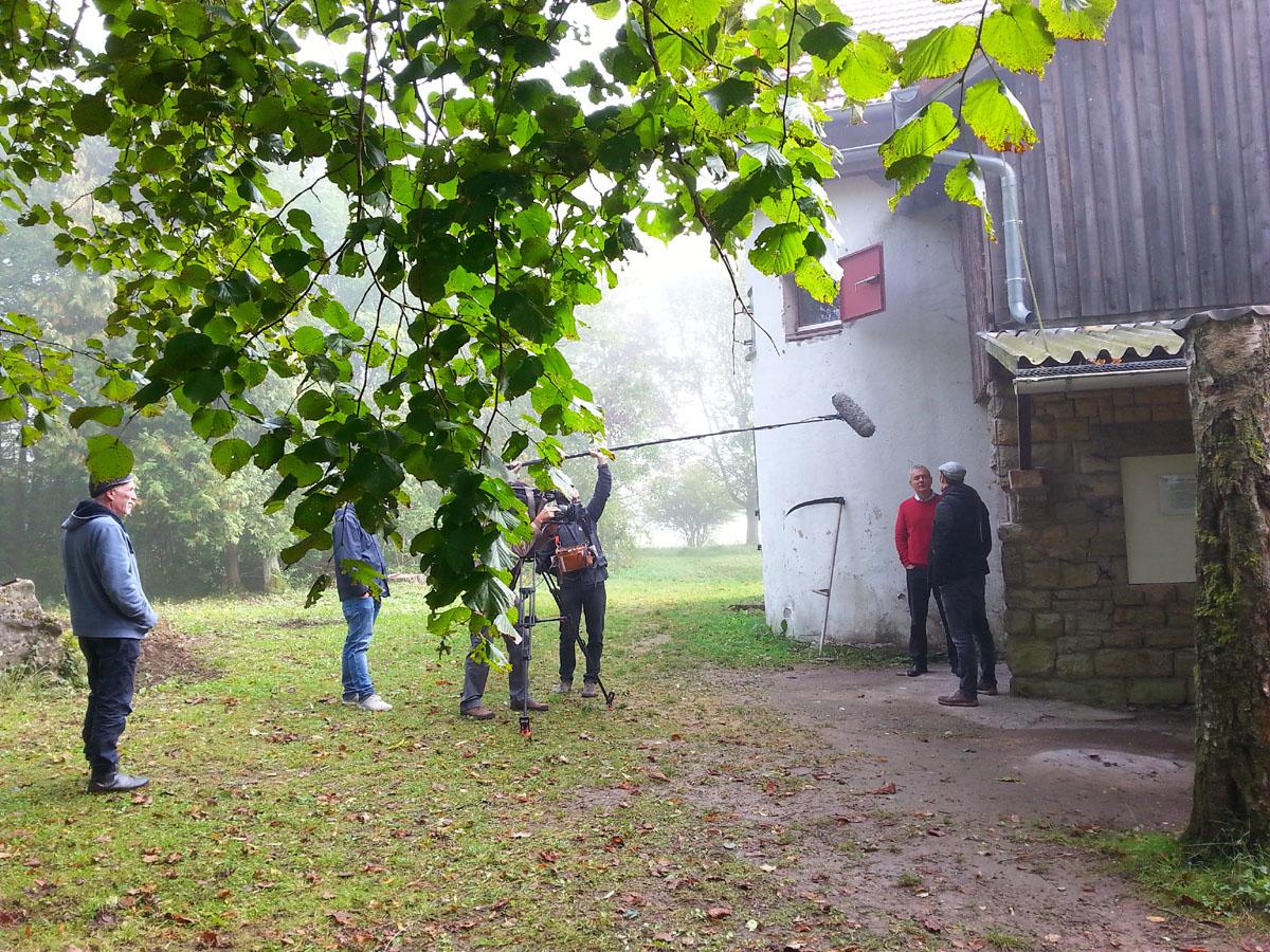 Dreharbeiten an der Bakuninhütte
