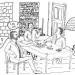 Zeichnung Zusammenkunft